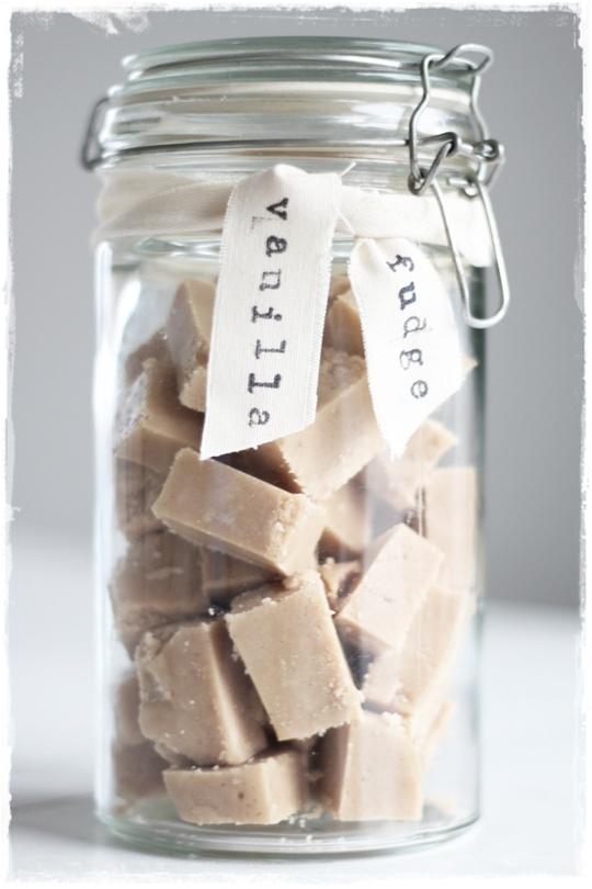 cute way to store fudge!