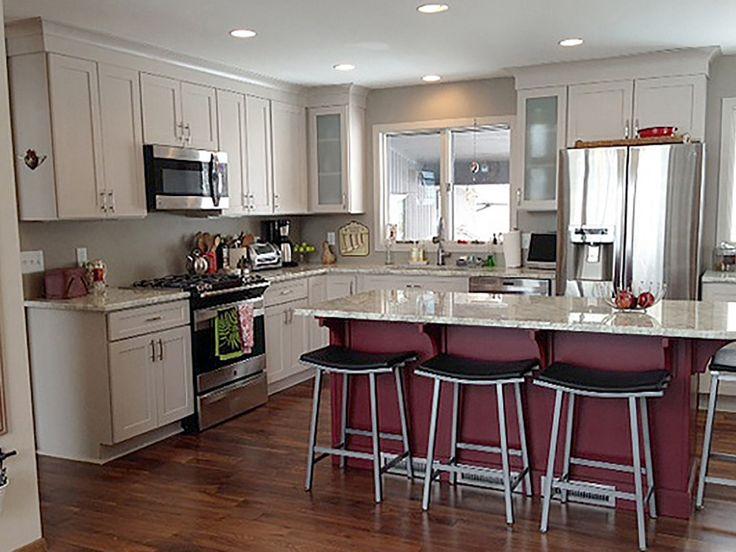 #4 AFTER Den Prairie Minnesota Kitchen Renovation Features CliqStudios  Dayton Painted Urban Stone Cabinets