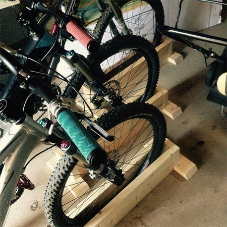 This self-supporting bicycle stand is extremely easy to make and you can make out of scrap wood, or pop into your local Builders for PAR pine to make the bike stand.