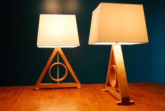 Harry Potter Deathly Hallows Table Lamp Harry Potter Kids Lamp Living Room Lamp Geometric Lamp Master of Death OMG @Jenny Wright