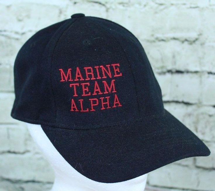 Marine Team Alpha by LIDS Black Red L-XL Fitted Trucker Cap Baseball Hat  #LIDS #TruckerHat