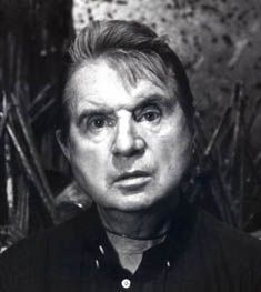 Francis Bacon (28 October 1909 – 28 April 1992) was an Irish-born British figurative painter known for his bold, graphic and emotionally raw imagery.[1] His painterly but abstracted figures typically appear isolated in glass or steel geometrical cages set against flat, nondescript backgrounds.