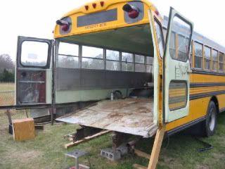 Loving The Custom Back Doors Car Hauler Rv School Bus Skoolie