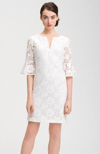Adrianna Papell Ruffle Sleeve Lace Dress available at Nordstrom------Looks like my 1969 wedding dress!!!!!!!!!!!!!