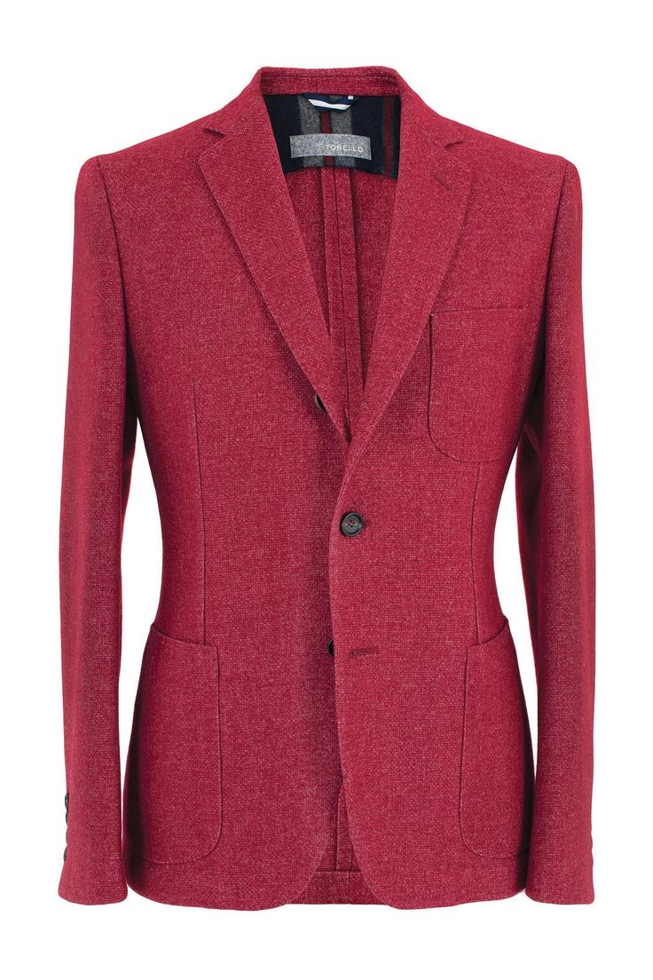 Red tweed jacket - Tonello Man Collection