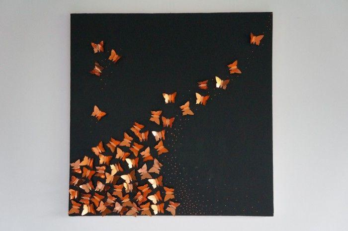 60 Koperen 3D Vlinders