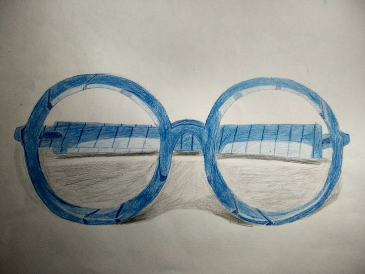 Gafas pintadas con lápices