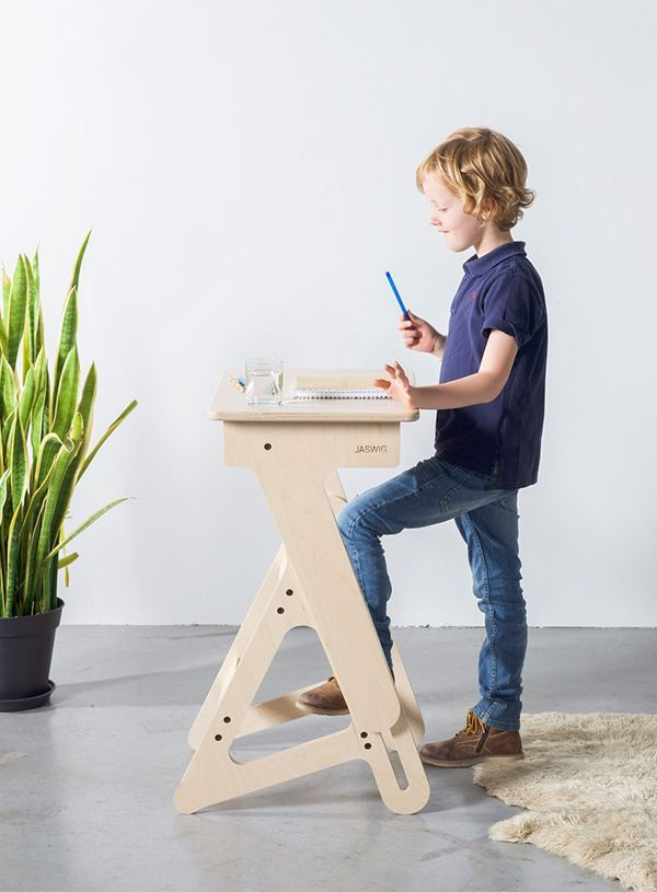 Jaswig My First Standup Kids Desk Is An All Natural Wooden
