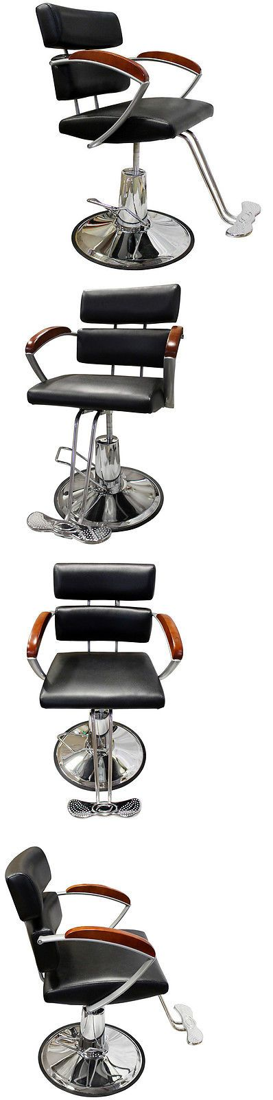Stylist Stations and Furniture: Professional Chrome Hydraulic Barber Chair Styling Hair Beauty Salon Equipment -> BUY IT NOW ONLY: $89.95 on eBay!