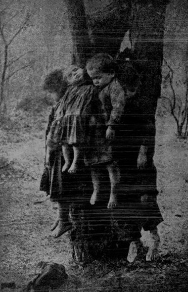 I'm guessing these children died from a disease/infection, and were immediately taken out of the home, to lessen the risk of infection to others