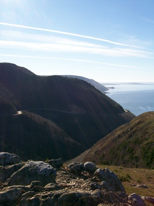 A view of the Cabot Trail from the end of the Skyline Trail on top of MacKenzie Mountain I believe