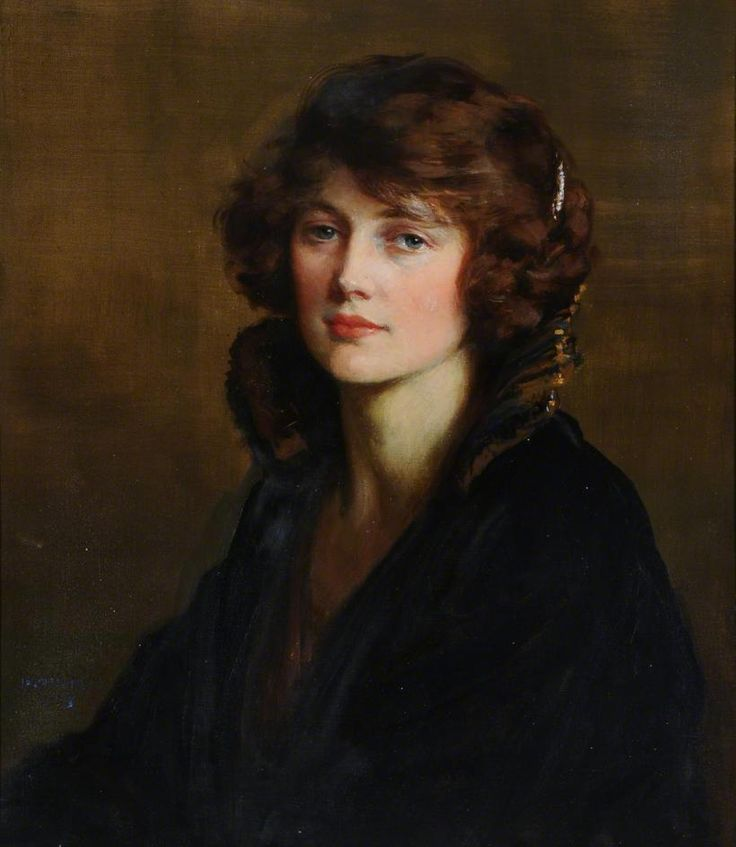 labellefilleart:  Portrait of a Lady, George Percy Jacomb-Hood
