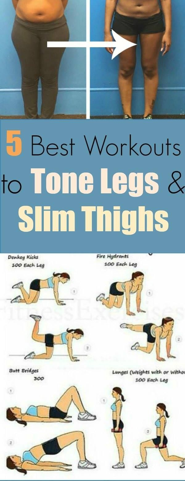 5 best workout for tone legs and slim thighs. Find out here easy exercises to lo…