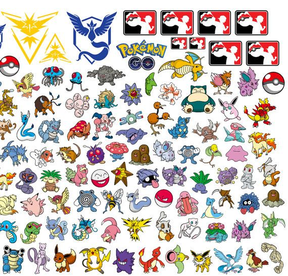 PLEASE SEE PICTURES FOR ALL FILES INCLUDED  ALL Pokemon Go logos - vector cut and print files for professional printing and cutting machines. This listing contains files in AI EPS, SVG, and PDF formats for use with: CorelDraw, Adobe Illustrator and other compatible vector software.  Fully editable, layered vector art for easy scaling and color changing. Perfect for creating custom:  • T-Shirts • Vinyl decals and stickers • Fabric Transfers • Embroidery templates • Scrapbooking supplies  You…