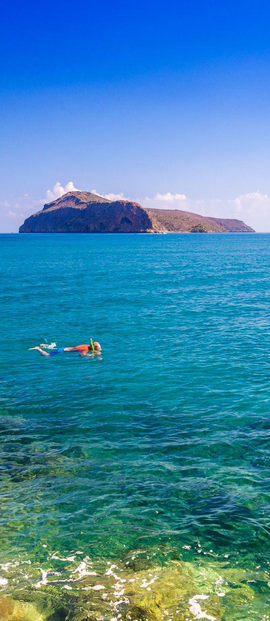 September swim in Platanias, Crete