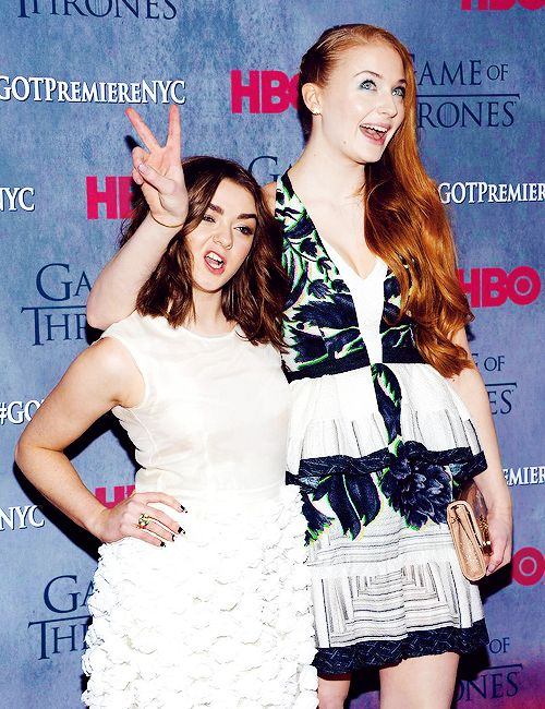 Maisie Williams and Sophie Turner at the Game of Thrones Season 4 Premiere
