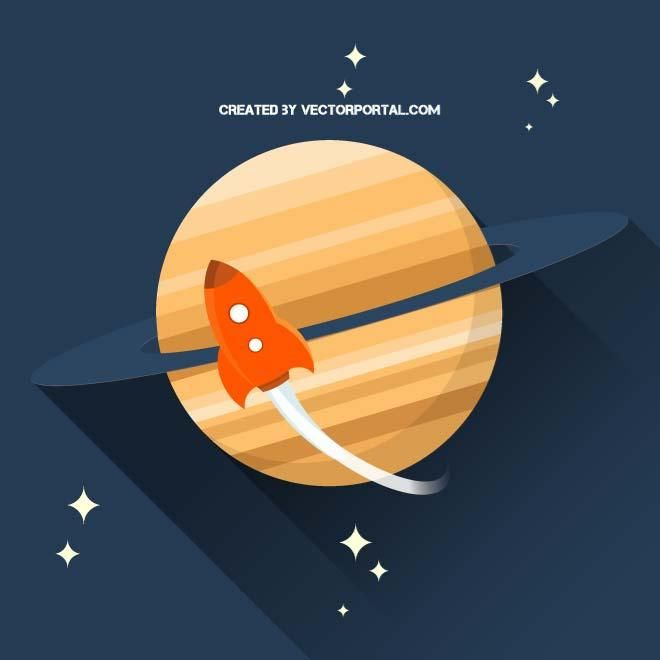 Space mission vector graphics.