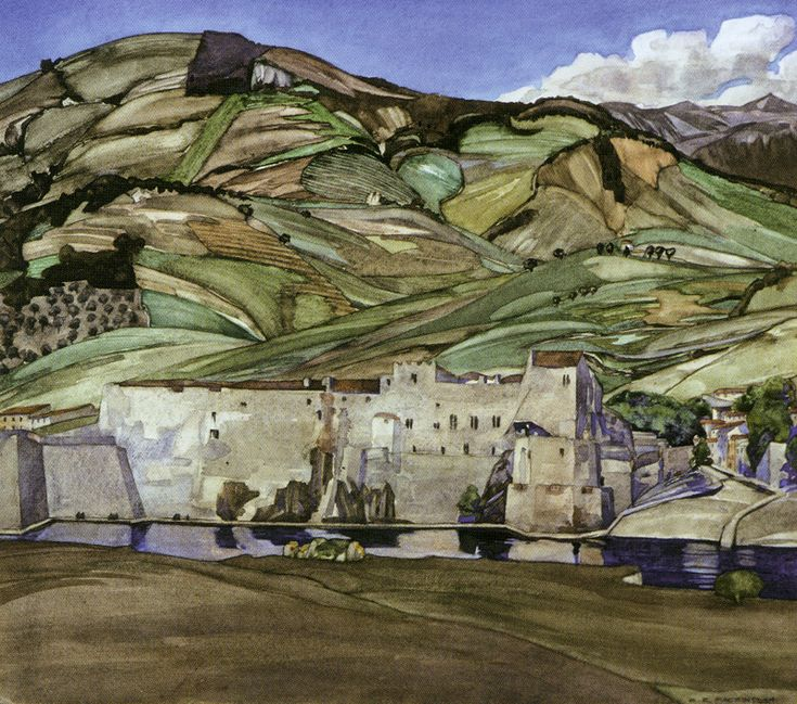 Charles Rennie Mackintosh's watercolour 'The Summer Palace of the Queens of Aragon'