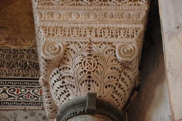 Hagia Sophia Nave Column Inside Picture
