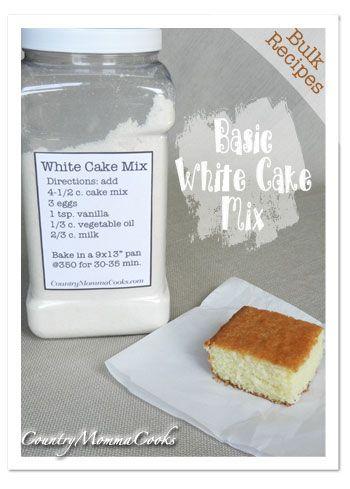 Cake recipe with shortening