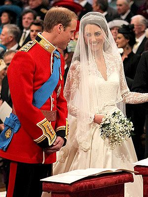 Royal wedding in 2011 between Prince William and Kate