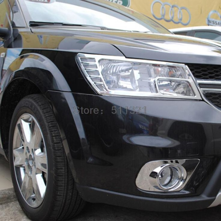 (51.84$)  Watch now  - For Dodge Journey JCUV JC For Fiat Freemont 2012 2013 2014 Front Headlight Lamp Cover Chromium Styling Trim Lamps Covers