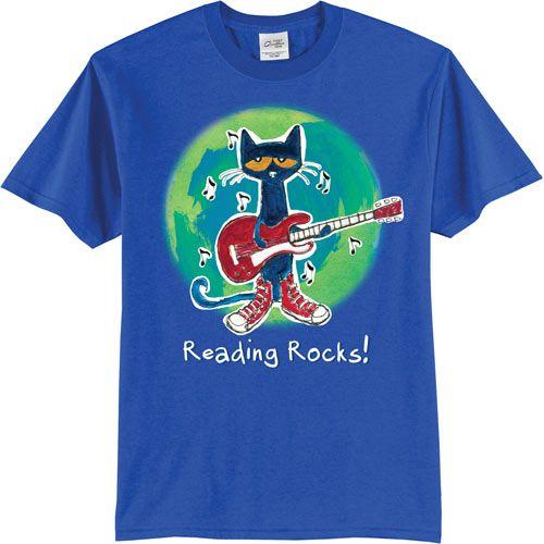 Pete the Cat® Reading Rocks Adult T-shirt
