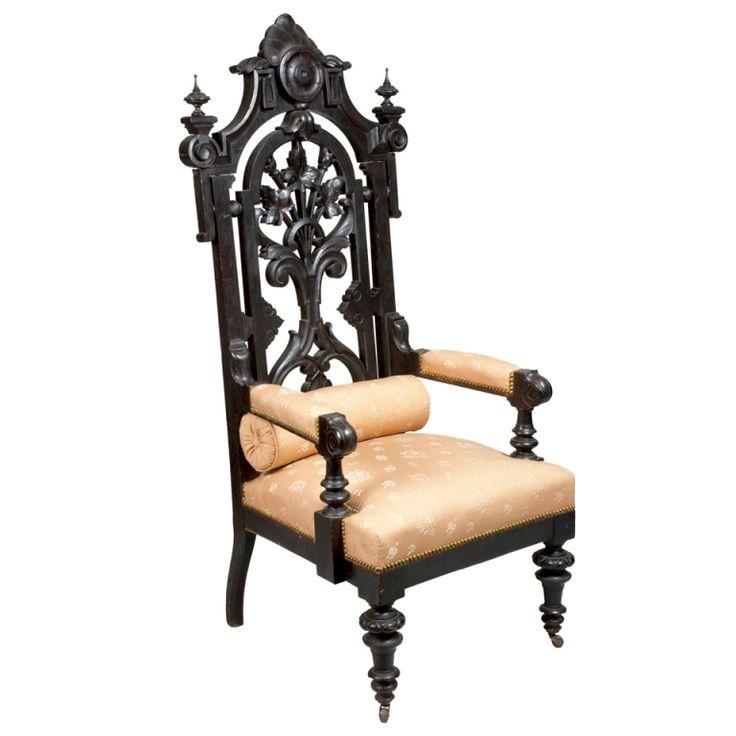 Monumental Ebonized Rococco Revival Baltimore Armchair, c.1860 - 145 Best Antique Bucket List Images On Pinterest Colors, News