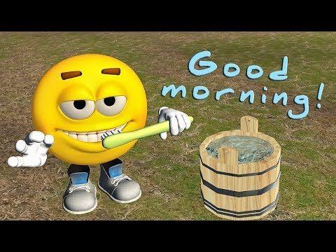Funny Good Morning video. Emoji wishes Good Morning - YouTube