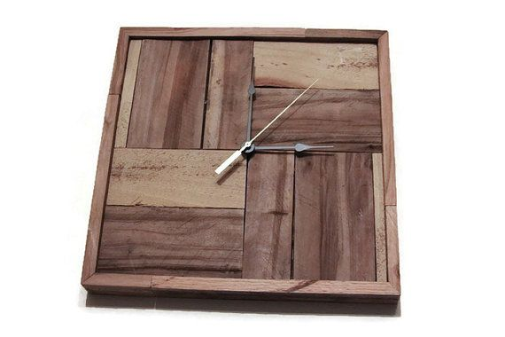Recycled Pallet Clock Rustic Wall Clock Handmade Wood Clock Trending Urban Industrial Clock Large Wall Clock Gift