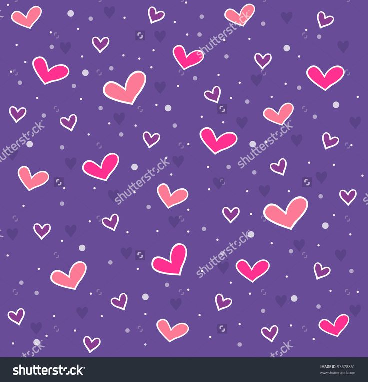 Vector hearts pattern