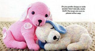 FREE Puppy Dog Amigurumi Crochet Pattern and Tutorial •✿• Teresa Restegui http://www.pinterest.com/teretegui/ •✿•