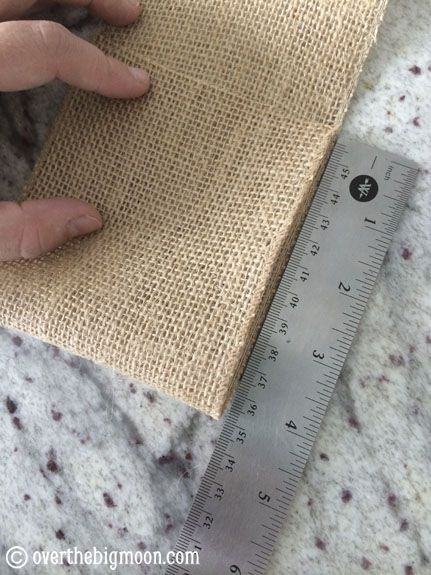 DIY Burlap napkin holders