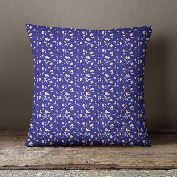 S4Sassy Decorative Purple Cushion Cover Floral Printed Pillow Cover Throw