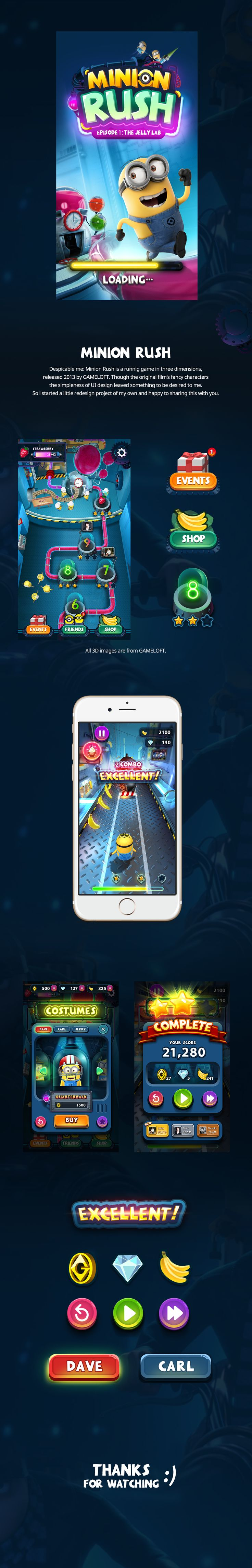 """Check out this @Behance project: """"Minion rush UI"""" https://www.behance.net/gallery/55716025/Minion-rush-UI"""