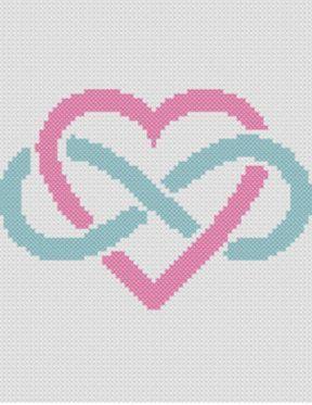 C2C gehaakt patroon - hoek naar hoek - C2C haak - bruiloft cadeau deken patroon - Infinity hart deken Afghaanse haak Graph-grafiek