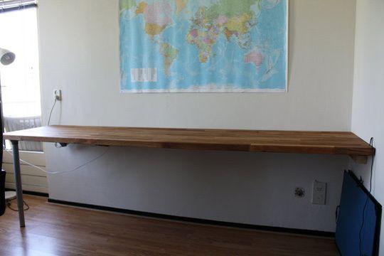 Pinterest the world s catalog of ideas for Long office desk
