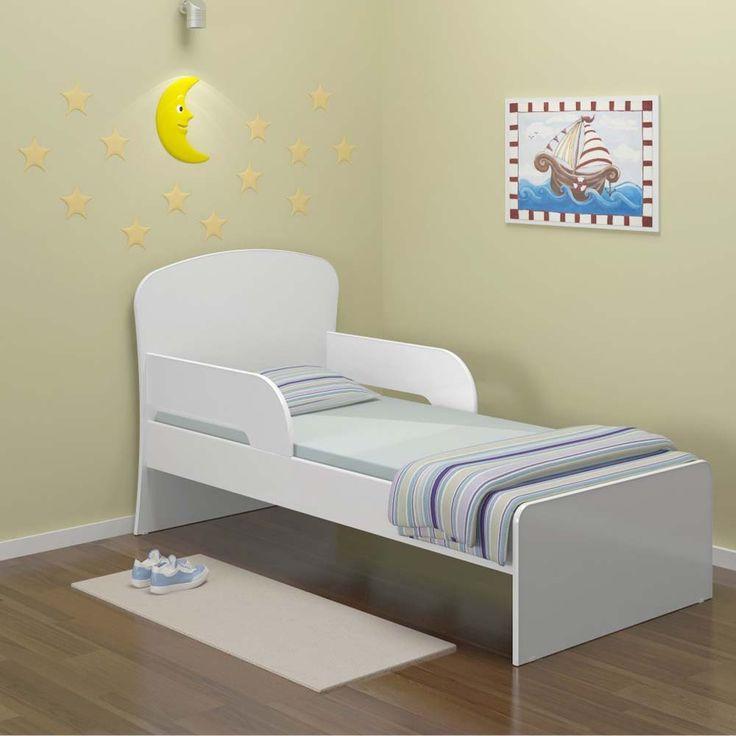 Cama Infantil Multimóveis Multibaby 6070 com Grade de Proteção - Branco   PontoFrio.com