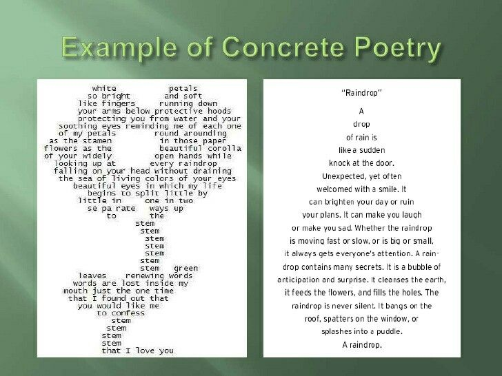 Example of Concrete Poetry