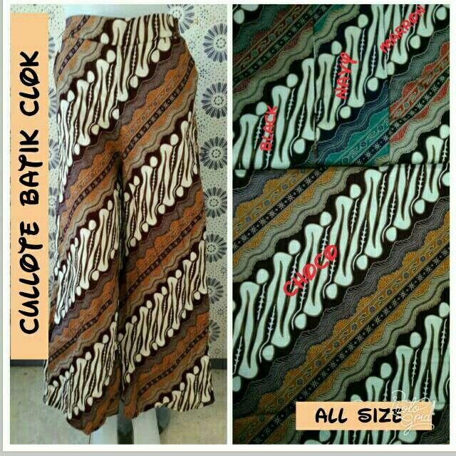 Saya menjual Cullote Batik Clok seharga Rp65.000. Dapatkan produk ini hanya di Shopee! https://shopee.co.id/hamzahnisa21/618078476 #ShopeeID