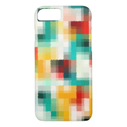 Red Blue Green Yellow White Abstract Pattern iPhone 8/7 Case - fun gifts funny diy customize personal