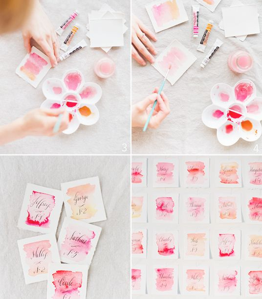 make your own watercolor invitations