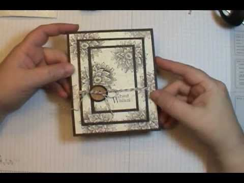 This triple layer card couldn't be easier or faster, when you stamp all three layers at the same time!! Watch video for Triple Time Stamping Tips! For full s...