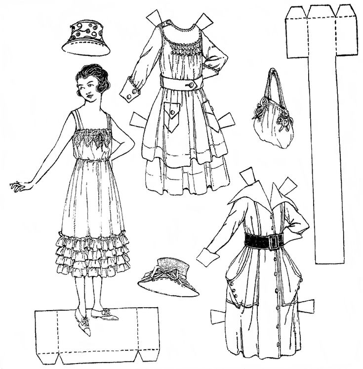 464 best Paper Dolls Black White images on Pinterest Vintage