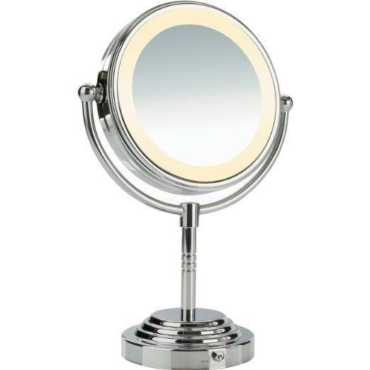 Conair Classique Double-Sided Lighted Fog Free Mirror with  5x Magnification