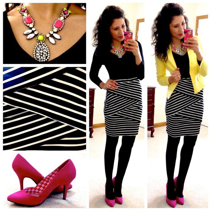 Yasi from Hello, Gorgeous! styling TeodoraB.com yellow blazer.