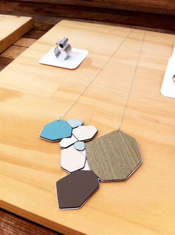 Geo Necklace // Multi by zassdesign on Etsy, $65.00