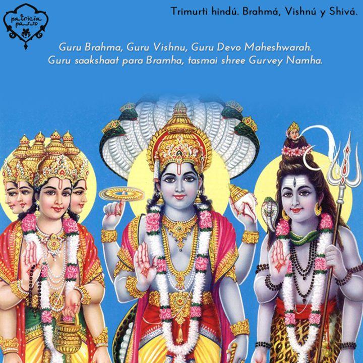 La Guruvandana es de las plegarias más populares. No sólo está en la danza, pero es una de las formas de encomienda y ofrenda que también puede realizar la bailarina. Hace alusión a la Trimurti, la Trinidad Hindú, compuesta por Brahma, Vishnu y Shiva.   Fuerza creadora, mantenedora y destructora.
