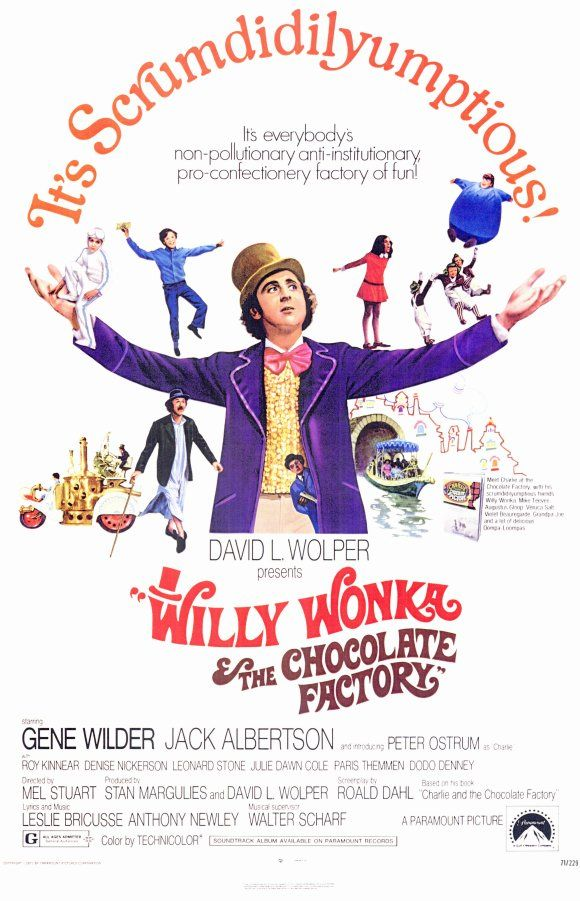 Willy Wonka and the Chocolate Factory  (1971): I keep getting distracted.