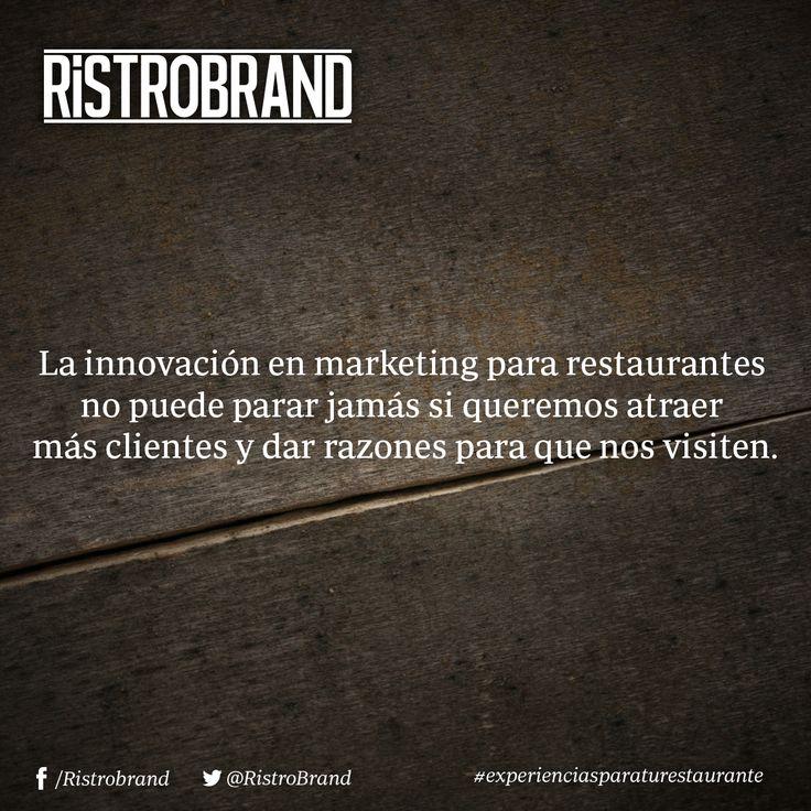 La innovación en marketing para restaurantes no puede parar jamás si queremos atraer más clientes y dar razones para que nos visiten. #ristrobrand #marketing #innovación #restaurantes #design #pachuca